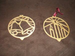 Decoratiuni de Craciun din traforaj